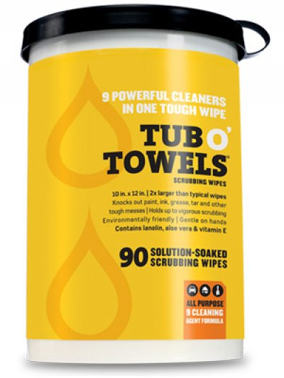 Tub O Towels 90 Towels Per Canister Maxwell Supply Of