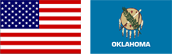 Flags of Oklahoma and America